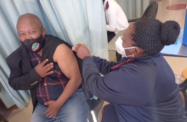 UMZIMVUBU MAYOR CLLR SOBANE MNUKWA RECEIVED THE JOHNSON & JOHNSON COVID-19 VACCINE